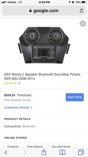Ssv works stereo for rzr for Sale in Jurupa Valley, CA