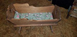 "antique doll cradle 25"" long 11"" wide 13"" high for Sale in Batsto, NJ"