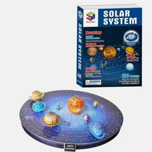3D Solar System Sealed Puzzle Set Planet Paper DIY Learning Science Toy 146Pcs for Sale in Richardson, TX
