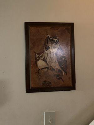 Owl portrait for Sale in Philadelphia, PA