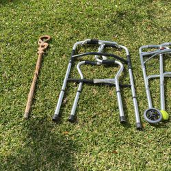 2 Walkers, Cane, And Handle For Tub for Sale in El Cajon,  CA