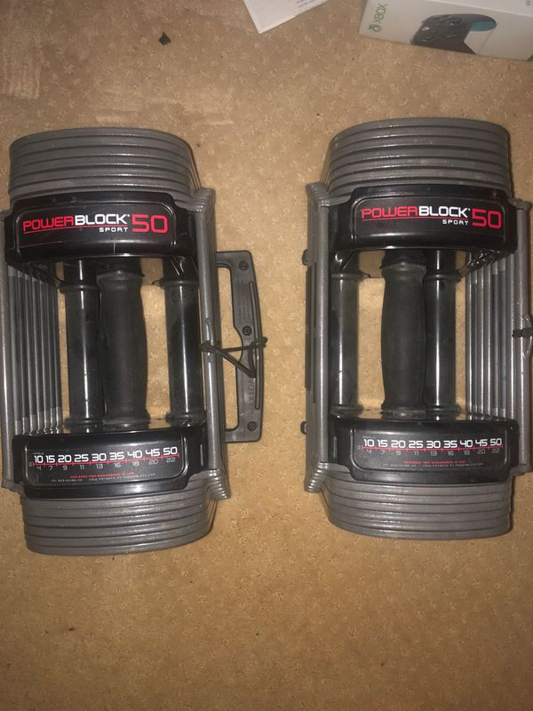 Powerblock 50 weights adjustable