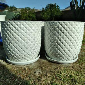 "New Planting Pots ""White 15"" Pineapple Ceramic Planters"" 4 - Available $50ea.😷 for Sale in San Bernardino, CA"