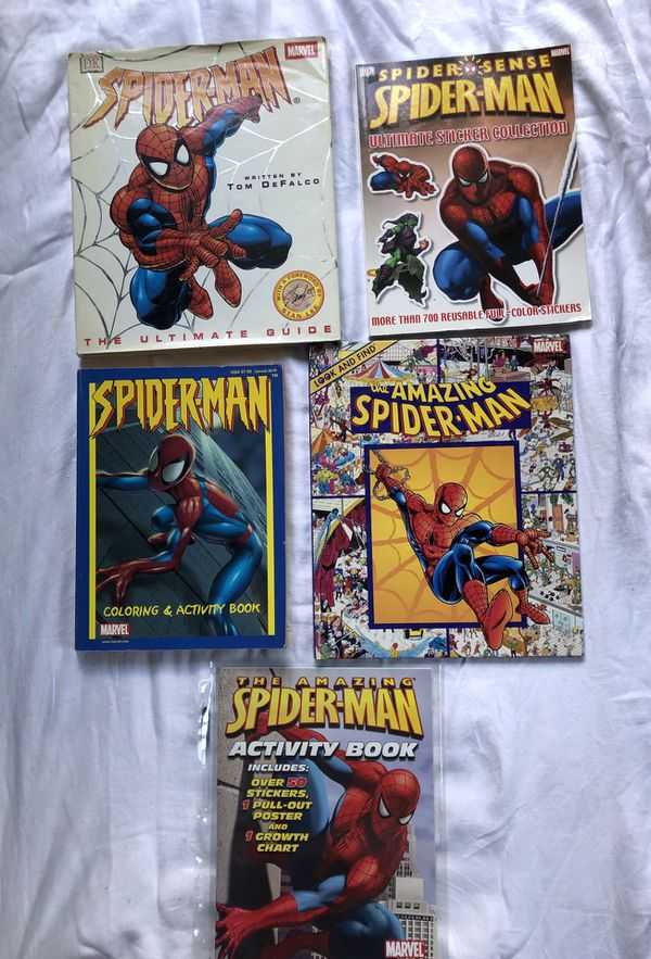 Spider-Man Activity Books Lot