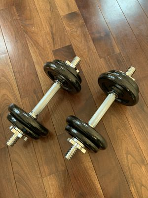 Adjustable Dumbbells with Case - 38 lb Total for Sale in Boston, MA