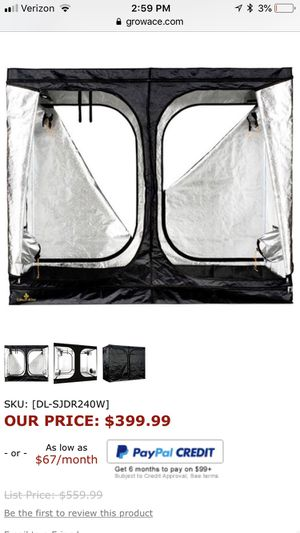 Secret Jardin 96 x 48 x 80 Grow Tent for Sale in Longmont, CO