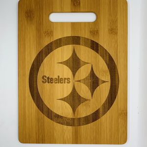 Pittsburgh steelers laser engraved cuttingboard Christmas gift kitchen pop for Sale in Los Angeles, CA