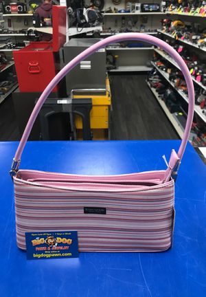 Kate Spade pink striped purse hand bag for Sale in Midvale, UT