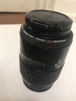 Konica Minolta Zoom Telephoto 100-300mm Maxxumm AF Focus Lens for Sale in Atlanta, GA