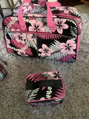Vintage Roxy rolling duffel bag with toiletry case for Sale in Foothill Ranch, CA