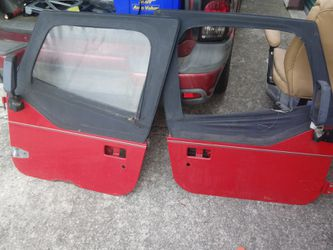 Jeep wrangler. 90s YJ Red half doors. for Sale in Newark,  OH