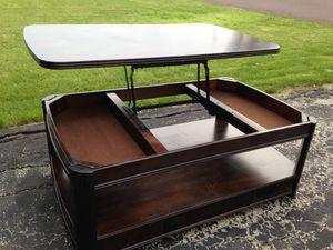 Clean lines lift top coffee table secret storage 30x50 for Sale in Morton, IL