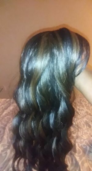 Beautiful brown hair synthetic wig for Sale in Houston, TX