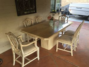 Marmol dining table with six chairs for Sale in Phoenix, AZ