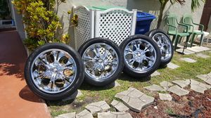 20 inch 5lug Universal Rims with tires for Sale in Miramar, FL