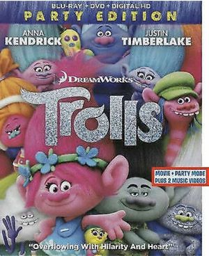 TROLLS: PARTY EDITION - BLU-RAY + DVD + DIGITAL HD for Sale in Lynwood, CA
