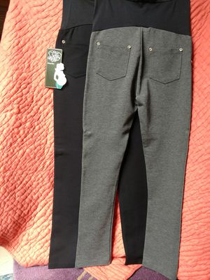 NEW! Maternity Pregnancy stretchy pants black and gray. Small S for Sale in Princeton, NJ