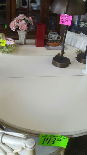 Bamboo Table with leaf and four chairs for Sale in New Port Richey, FL