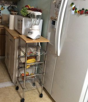 Kitchen rack with fruit baskets for Sale in San Jose, CA