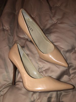 Guess Natural Tan Heels Size 8m for Sale in Aloha, OR
