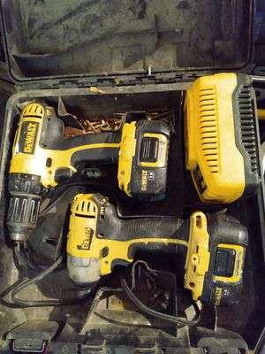 DeWalt 18v Cordless Drill and Impact Driver Set for Sale in Bell, CA