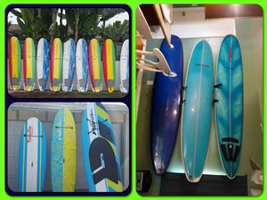 Many paddle boards as well as surfboards come see for Sale in Pasadena, CA