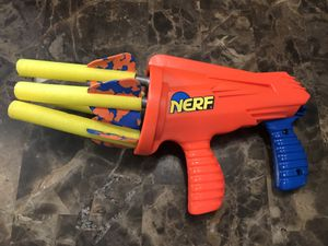 Kenner NERF Missilestorm Dart Gun 4 Original Darts Vintage 1993 orange blue for Sale in West Dundee, IL