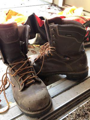 "Danner quarry USA 8"" brown steel toe, gore Tex, vibram work boots. M10 for Sale in San Ramon, CA"