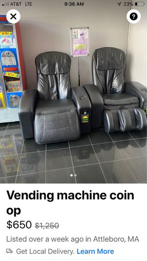 Massage chair coin op for Sale in Pawtucket, RI