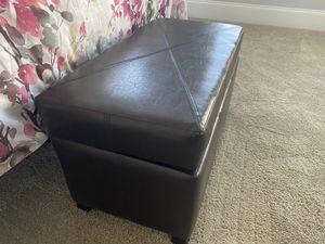 Small leather storage bench for Sale in Alpharetta, GA