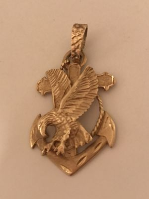 Solid heavy 14k eagle anchor pendant vintage for Sale in Denton, TX