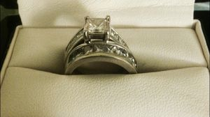 18k white gold wedding / engagement set 3.88 carat TW for Sale in Port Orchard, WA
