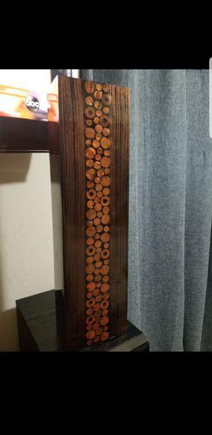 BROWN BLACK COPPER FLOWER VASE 19 3/4 X 5 1/4 X 3 1/4 for Sale in Vallejo, CA