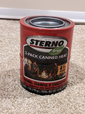 Sterno 2-pack can heat fuel for cooking for Sale in Seattle, WA