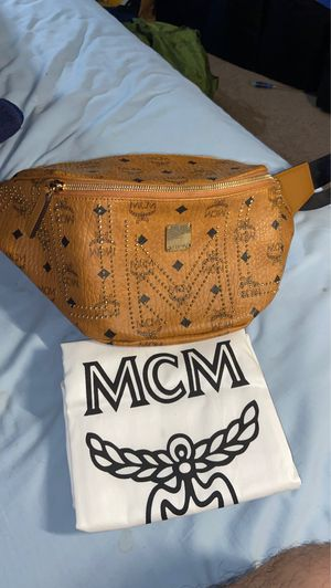 MCM cognac visetos belt bag fanny pack sachel shoulder bag Bape supreme goyard Gucci lv for Sale in Sacramento, CA
