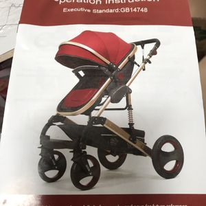 Baby stroller and car seat blue color for Sale in Pomona, CA