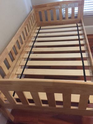 Bed frame solid wood like new for Sale in Crofton, MD