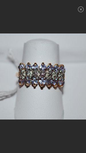 10kt yellow gold tanzanite diamond ring for Sale in Aurora, CO