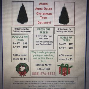 Fresh Christmas trees delivered! for Sale in Santa Clarita, CA