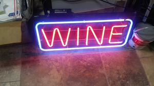 Wine sign beer bar alcohol sign for Sale in Austin, TX