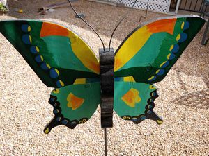 Homemade wooden butterfly and stand for Sale in Apache Junction, AZ