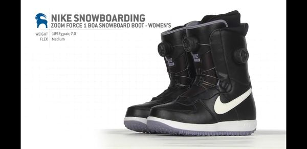 828a45f0c9 Nike Women s Zoom Force 1 X Boa Snowboarding Boots Size 7.5 (586540-010)