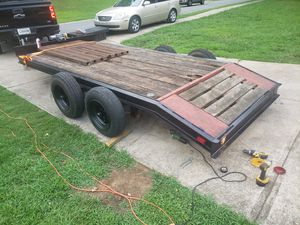 17 ft car hauler, freshly painted, new tires, extra spare with heavy duty ramps for Sale in Powder Springs, GA