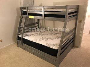 Twin/full bunk beds with mattresses included for Sale in Jurupa Valley, CA