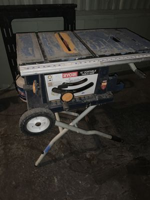 Ryobi 10' Portable Table Saw for Sale in Ontario, CA