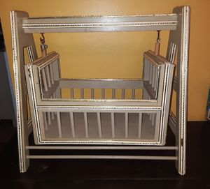 Rocking pet bed Doll crib cradle Plant holder Handmade for Sale in Wolcott, CT