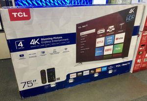 """75"""" Roku Smart hdr 4k TCL tv for Sale in March Air Reserve Base, CA"""