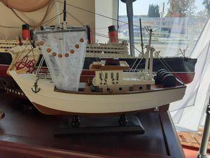 Decorative Nautical Beach Decor Model Fishing boat for Sale in Alhambra, CA