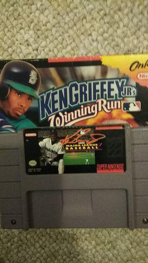 Super Nintendo SNES Ken Griffey Winning Run with box. for Sale in Elkridge, MD