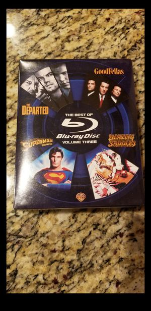 Brand New 4 movie Blu-Ray box set - Departed, Goodfellas, Superman, Blazing Saddles for Sale in Downers Grove, IL